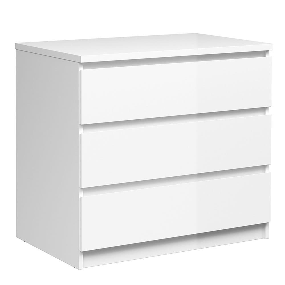 Enzo Chest of 3 Drawers in White High Gloss